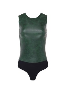 Commando Faux Leather Animal Python Bodysuit