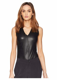 Commando Faux Leather V-Neck Bodysuit BDS014