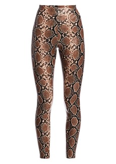 Commando Snakeskin-Print Faux Leather Leggings