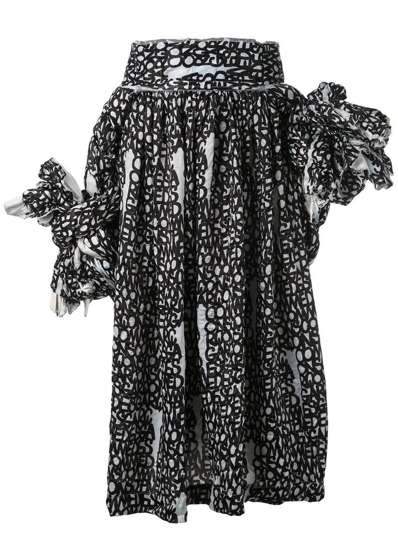 Comme des Garçons D pattern knotted jumper-skirt