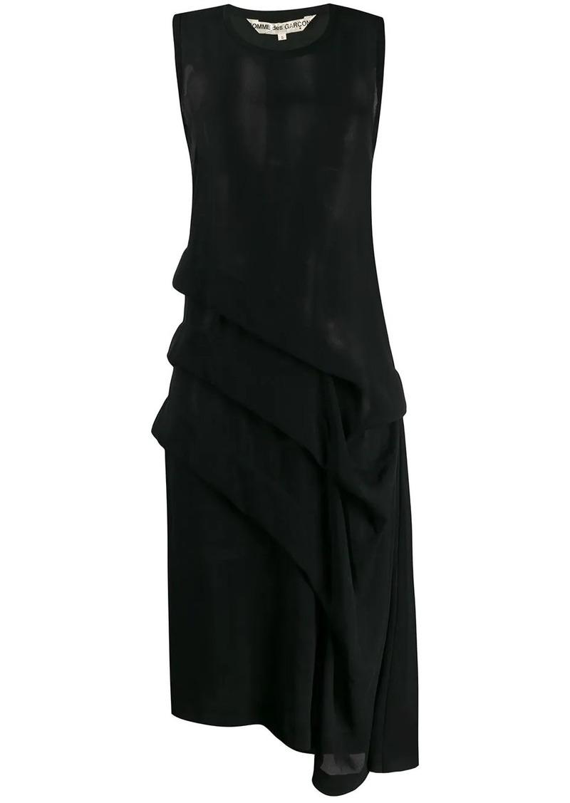 Comme des Garçons 1991 sheer layered asymmetric dress