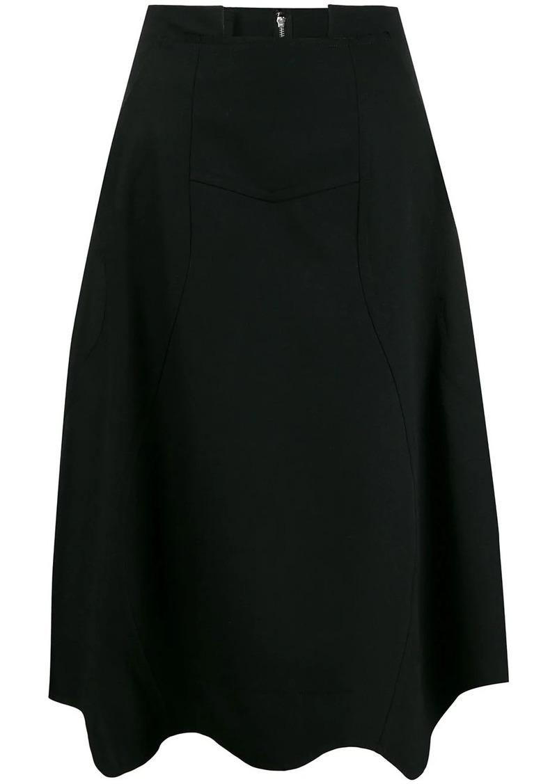 Comme des Garçons A-line asymmetric skirt
