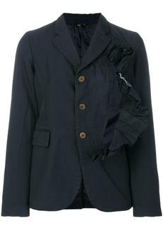 Comme des Garçons asymmetric frill fitted jacket
