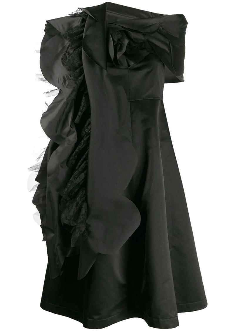 Comme des Garçons asymmetric lace detail dress