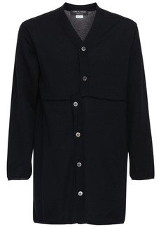 Comme des Garçons Asymmetric Long Wool Cardigan