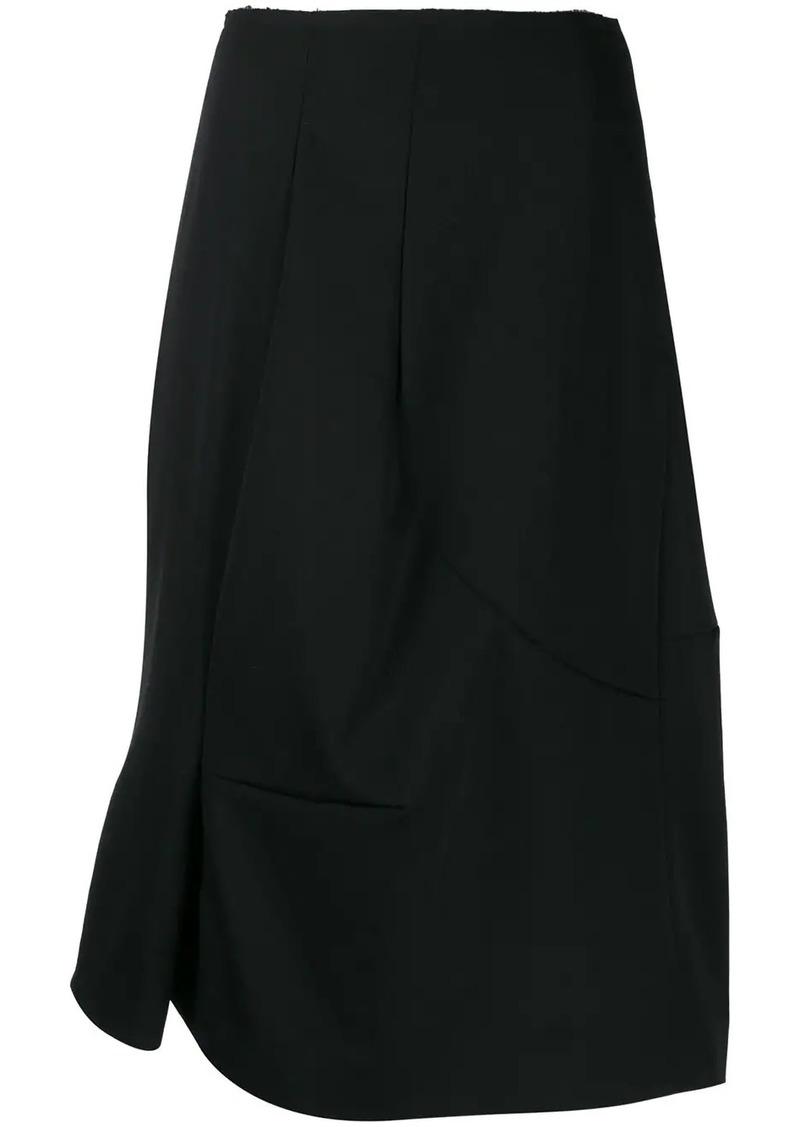 Comme des Garçons asymmetric midi skirt