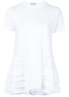 Comme des Garçons asymmetric pleated hem T-shirt
