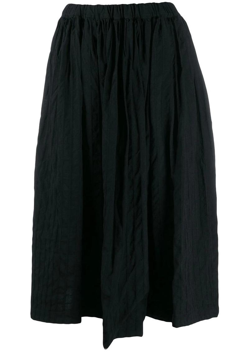 Comme des Garçons asymmetric pleated skirt