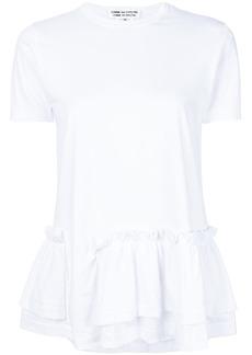 Comme des Garçons asymmetric ruffle trim T-shirt
