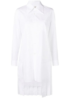 Comme des Garçons back pleated hem shirt dress