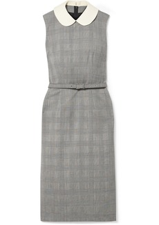 Comme des Garçons Belted Checked Wool Dress