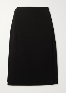 Comme des Garçons Belted Pleated Wool Midi Skirt