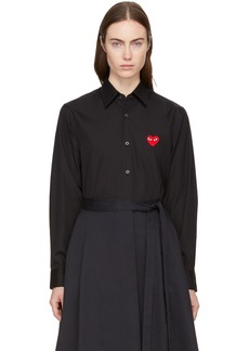 Comme des Garçons Black & Red Heart Patch Shirt