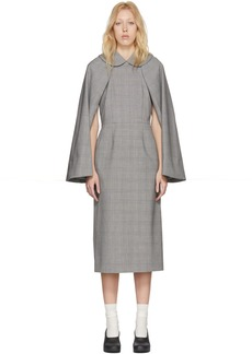 Comme des Garçons Black & White Wool Glen Check Dress