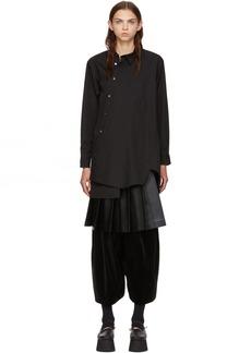 Comme des Garçons Black Asymmetric Shirt Dress