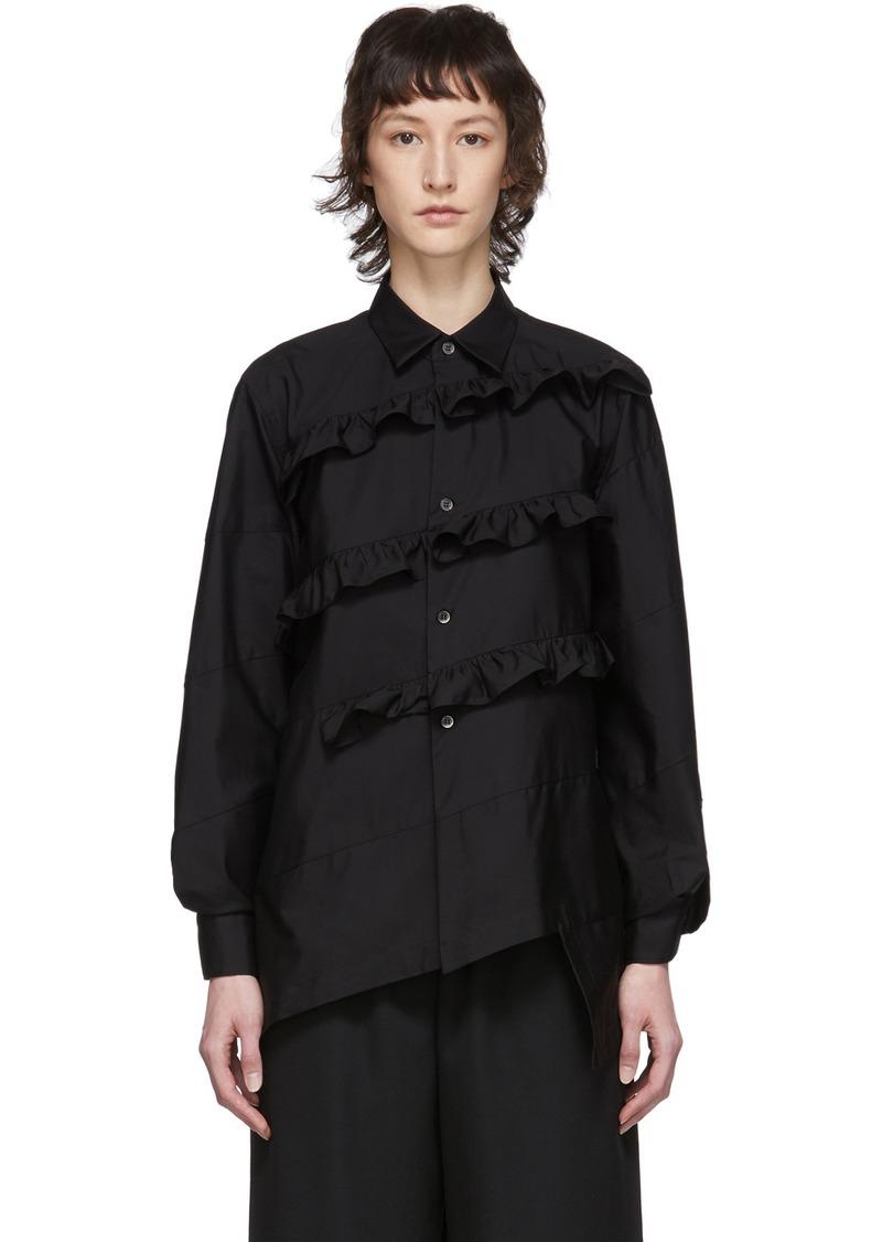Comme des Garçons Black Broad Diagonal Ruffle Shirt