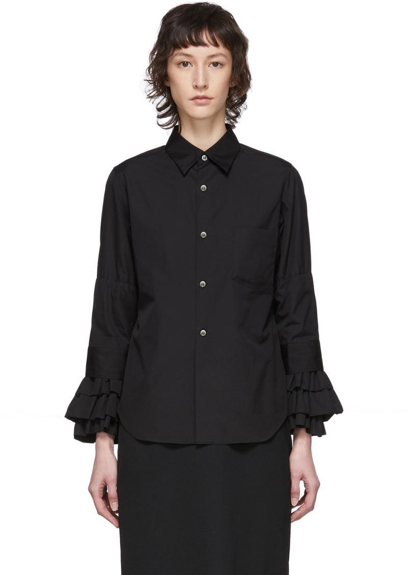 Comme des Garçons Black Broad Ruffle Cuffs Shirt
