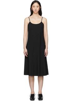 Comme des Garçons Black Crinkle Slip Dress