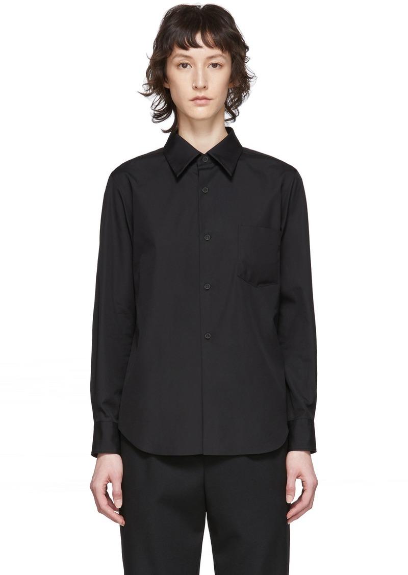 Comme des Garçons Black Exaggerated Back Pleat Shirt