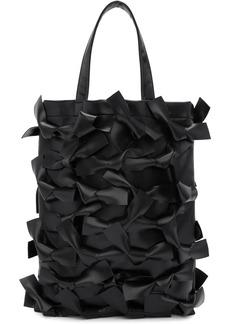 Comme des Garçons Black Faux-Leather Bows Tote