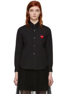 Comme des Garçons Black Heart Patch Shirt