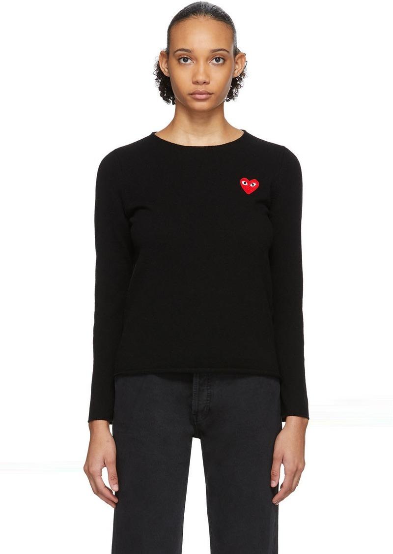 Comme des Garçons Black Heart Patch Sweater