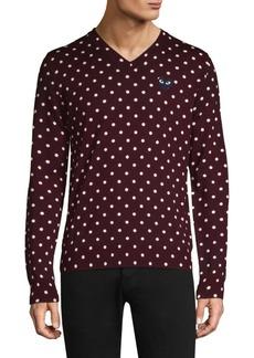 Comme des Garçons Black Heart Wool Polka Dot Sweater