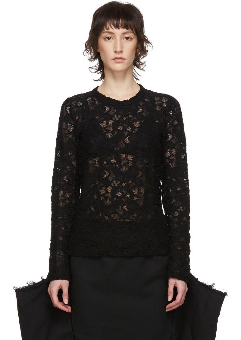 Comme des Garçons Black Lace Pullover
