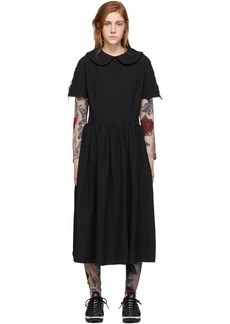 Comme des Garçons Black Oxford Collared Dress