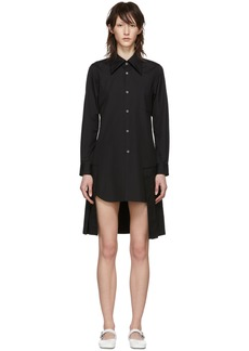 Comme des Garçons Black Pleated Shirt Dress