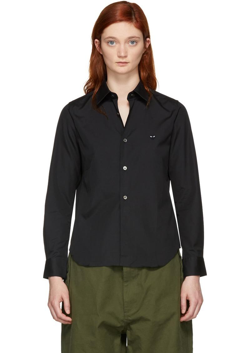 Comme des Garçons Black Poplin Small Heart Shirt