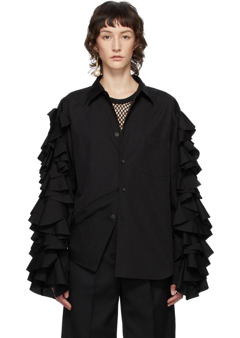 Comme des Garçons Black Ruffle Sleeve Shirt