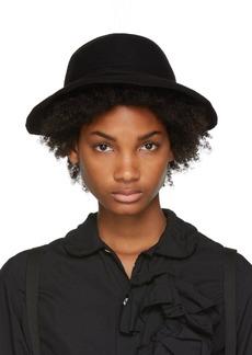 Comme des Garçons Black Scha Edition Draped Wool Felt Hat