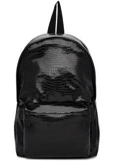 Comme des Garçons Black Small Croc Faux-Leather Backpack