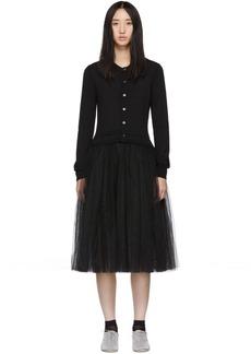 Comme des Garçons Black Tulle Combo Dress