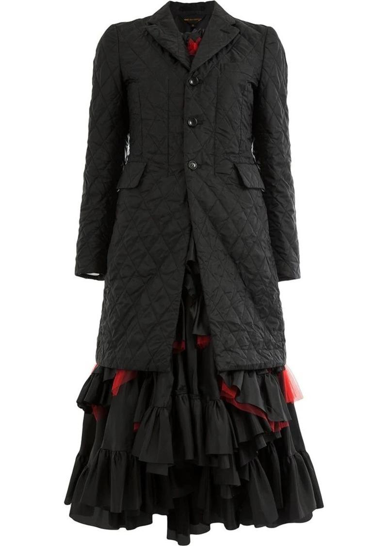 Comme des Garçons blazer-style tiered dress