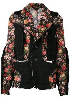Comme des Garçons block panelled floral jacket