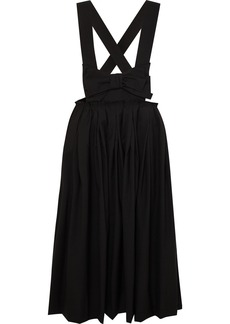 Comme des Garçons Bow-embellished Wool Midi Skirt