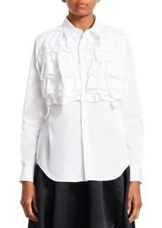 Comme des Garçons Broad Ruffled Button-Down Shirt