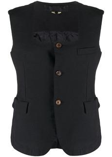 Comme des Garçons button-down sleeveless blouse