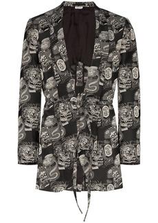 Comme des Garçons Buy Or Die jacquard blazer