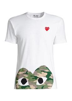 Comme des Garçons Camo Heart Play T-Shirt