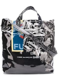 Comme des Garçons cartoon print shopper bag