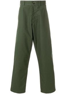 Comme des Garçons checked wide-leg trousers