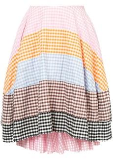Comme des Garçons checkered patchwork skirt