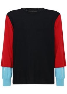 Comme des Garçons Color Block Wool Jersey Sweater