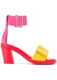Comme des Garçons colour-block leather sandals
