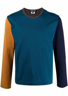 Comme des Garçons colour-block long-sleeve top