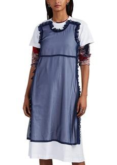 Comme des Garçons Comme des Garcons GIRL Women's Tulle-Layered Cotton T-Shirt Dress