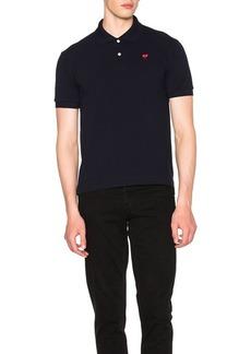 Comme des Garçons Comme Des Garcons PLAY Cotton Polo with Red Emblem
